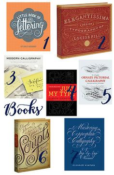 Book Suggestions for your favorite Calligraphy/Lettering/Design nerd: 1. Little Book of Lettering* by Emily Gregory, $24.95 available i...