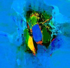 'DigitalART Nr.9  Spinnennetz in Blau' von Claudia Neubauer bei artflakes.com als Poster oder Kunstdruck $15.68
