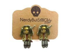 The Walking Chibi (Katana Wielder) Cling Earring