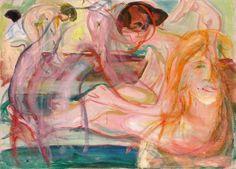 Edvard Munch (Norwegian, 1863 - 1944) Women in the Bath 1917