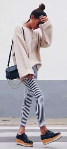 stripes + nude