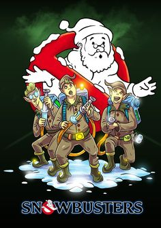 If Ghost Busters was a Christmas movie starring Santa Claus, it would probably look like this. By Artist Alessandro Minoggi