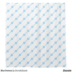 Blue Pattern Shower Curtain Available on many more products! Type in the name of this design in the search bar on my Zazzle products page!   #abstract #art #pattern #design #color #accessory #accent #zazzle #buy #sale #bathroom #home #decor #bedroom #duvet #cover #shower #curtain #toothbrush #soap #dispenser #amenities #blanket #throw #accent #living #modern #chic #contemporary #style #life #lifestyle #minimal #simple #plain #minimalism #square #line #white #blue