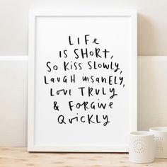 Life is short print | hardtofind.