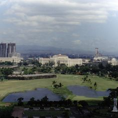 View from the Manila Hotel, Manila, Philippines, 1988 (vintage photo not vintage adjustments)