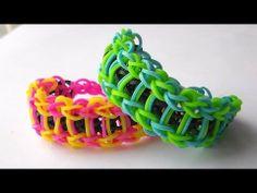 Pulsera De Gomitas Modelo Escalera // How to make the rainbow loom bracelet: Ladder - YouTube