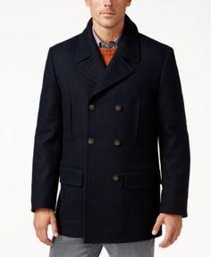 33a0273d7a Lauren Ralph Lauren Luke Solid Wool-Blend Peacoat - Black 40R