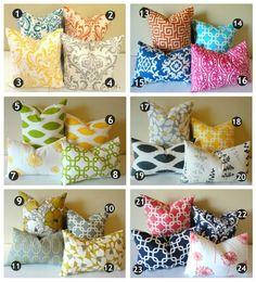 Pillow patterns: