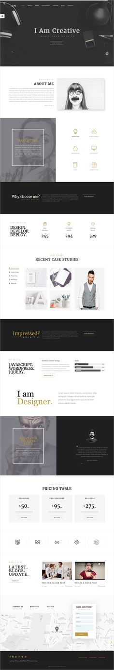JONK - CV Resume Personal Muse Template Business company - web resume