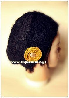 crochet felt hat, from mpleximo.gr