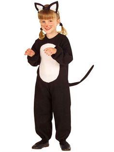 Lille kattekostume til fastelavn. Levering 1-2 dage Bikini, Overall, Costume Dress, Jumpsuit, Sport, Halloween, Fictional Characters, Black, Dresses