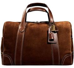 coach suede duffel bag