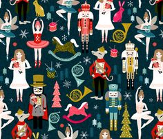 Nutcracker Ballet - by Andrea Lauren  fabric by andrea_lauren on Spoonflower - custom fabric