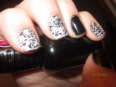 Decorative Black Jamberry Nails