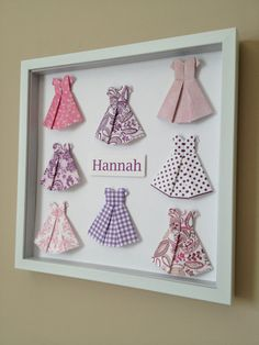 Paper Dress 3D Paper Art 12x12 shadow box frame by PaperLine, $70.00