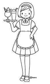 Waiter and Waitress Coloring Pages - Coloring Pages School Coloring Pages, Colouring Pages, Coloring Books, Community Workers, Community Helpers, English Worksheets For Kids, Preschool Worksheets, Teaching Kids, Kids Learning