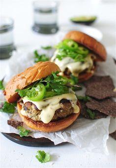 Hamburguesas Turcas con Queso !!!   Exquisitas !!!   Queso Turkey Burgers