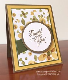 An Autumn Thank You with English Garden - STAMP WITH BRIAN