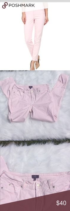 """NYDJ Light Pink Skinny Jeans NYDJ light pink skinny jeans.  Size 10. 29"""" inseam.  There are absolutely no flaws. They do, however, look white in my photos, that's why I added a stock photo. No trades. Offers always welcome. NYDJ Jeans Skinny"""