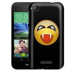 HTC Desire 320 Vampire Smiley on Black Slim Case