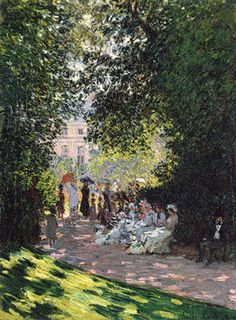 The Parc Monceau, 1878  Claude Monet (French, 1840–1926)  Oil on canvas  28 5/8 x 21 3/8 in. (72.7 x 54.3 cm)
