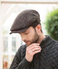 Quiet Man Kerry Irish Hat Flat cap Aran Tweed Cap Mucros Weavers Brown Red 1e19b8aecbf6