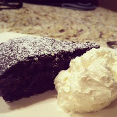 let there be butter: red wine chocolate cake with whipped marscapone