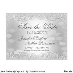 Save the Date | Elegant Silver