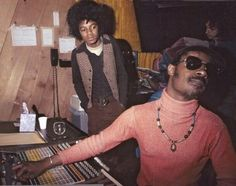 Michael Jackson in the studio with Stevie Wonder,... - Cool Kids of History