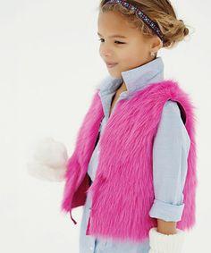 e36727ee57f Donna Salyers  Fabulous-Furs Pink Faux Fur Reversible Vest - Girls · Pink Faux  FurFake FurFabulous FursChildrens CoatsFaux ...