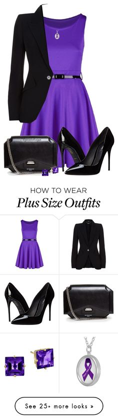 """""""PURPLE & BLACK FOR THE OFFICE"""" by arjanadesign on Polyvore featuring Alexander McQueen, Dolce&Gabbana and Givenchy"""