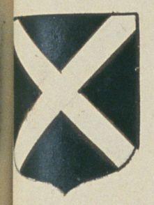 Michel VIGNÉ, marchand à Saumur. Porte : de sable, à un sautoir d'argent | N° 166 > Saumur