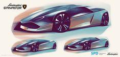Lamborghini Ganador Concept Design Sketch