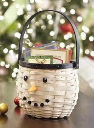 Longaberger Snowman Basket
