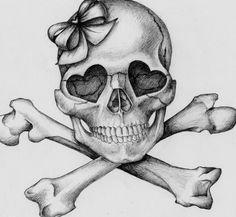Girly Skull Tattoos, Tatto Skull, Love Tattoos, Beautiful Tattoos, Snake Tattoo, Tatoos, Tattoo Sketches, Tattoo Drawings, Art Drawings