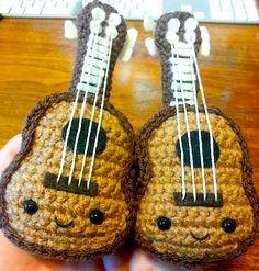 Two Kawaii Ukulele Amigurumi Are Better Than One by Spudsstitches on DeviantArt