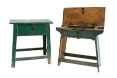 Antiguos bancos de trabajo para decoración vintage