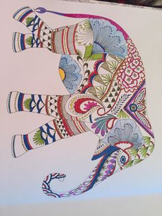 Elephant from Millie Marotta's Animal Kingdom book
