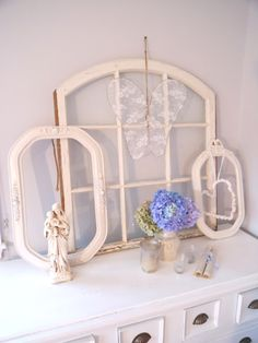 Evelyn and Rose: White Arched Window