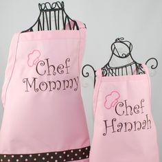 Personalized Gifts | Mother Daughter Apron & Hat Gift Set Personalized Chef Mommy and ...