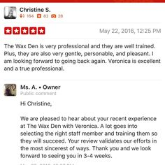 Kudos Veronica Another #happyclient from #thewaxden in #bloomfieldnj. We  the #brazilianwax and won #bestof201420152016