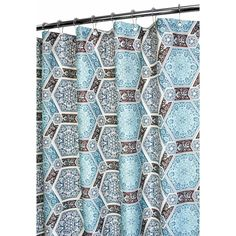 $24.99 Bed Bath & Beyond Park B. Smith® Renaissance Tiles 72-Inch x 72-Inch Watershed® Shower Curtain