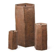 Atlantic 3 piece set of Fiberglass Basalt Columns #atlanticwatergardens #basaltcolumns #fountain