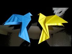 Peace Dove Origami Instructions (Traditional origami) - YouTube