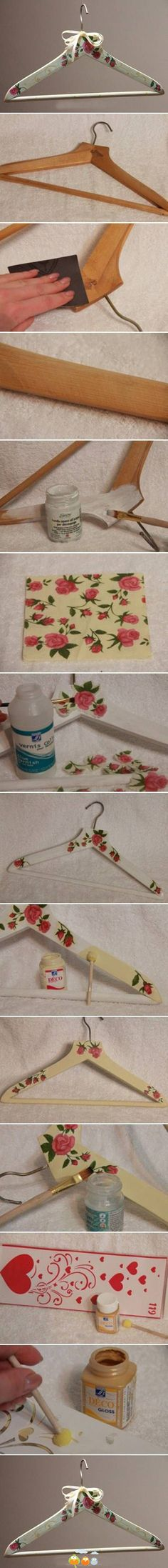 decoupage hanger idea