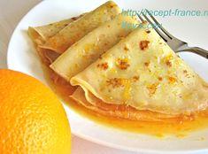 """Божественные французские блинчики """"Сюзетт"""" в апельсиновом соусе. Пошаговый рецепт с фото."""