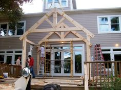 Timber Frames for Tiny Homes in Fleetwood, NC Diy Gazebo, Tiny House, Small Houses, Home And Garden, Timber Frames, Outdoor Structures, The Originals, Building, Garden Ideas