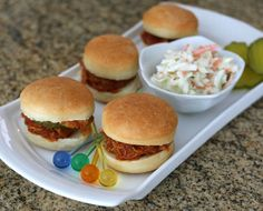 Make these buns slider size or cut them smaller for mini appetizer-size chicken or pulled pork sandwiches. The bread machine makes preparation easy.
