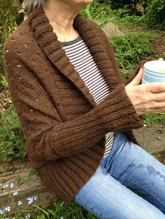 Ravelry: greenwillow77's Pimlico Shrug -- working on this now to stay warm on chilly nights!