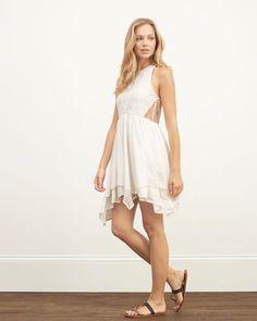 98a739ec Abercrombie Off White Lace Panel Skater Dress Bekväma Outfits, Vit  Klänning, Abercrombie Fitch,